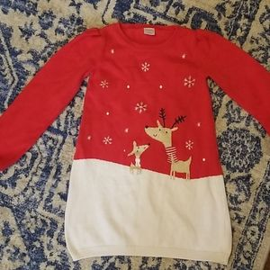 Gymboree sz 4T Christmas Reindeer Sweater Dress